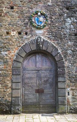 Main portal of Badia Montescalari